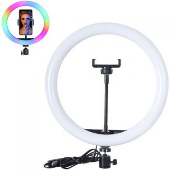 Juo MJ20 RGB Ring Light 20Cm Led Video Işığı (Ayak Dahil)